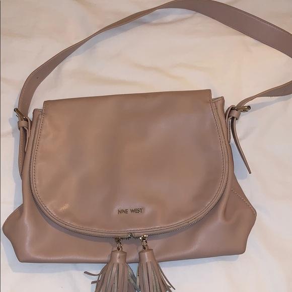 Nine West shoulder bag purse pale pink